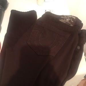 Brown true Religion legging jeans size 30